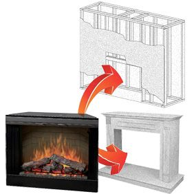 """ClassicFlame 36"""" 220V Traditional Builders Box 36EB220-GRT"""