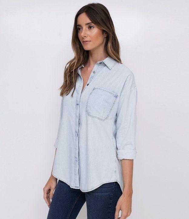 26b9728fe1 Camisa Jeans Marmorizada GG - Renner
