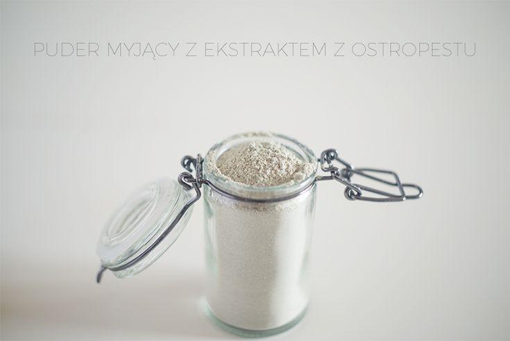 Puder myjący do twarzy: glinka, mąka owsiana, ekstrakt z ostropestu