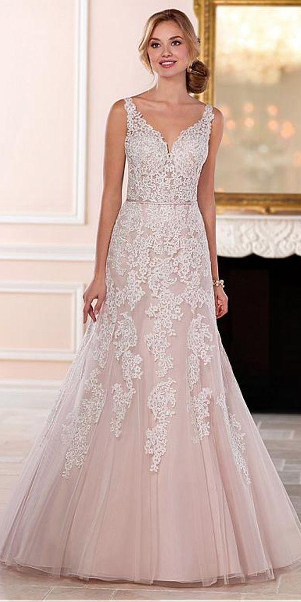 Dropped Waist Wedding Dress with Belt