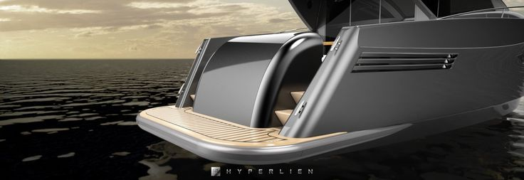 With #windows like #teeth, #stern decorations like #gills, #SharkLine46 embodies a #shark's characteristics. #HyperlienYacht #Yacht #Jacht