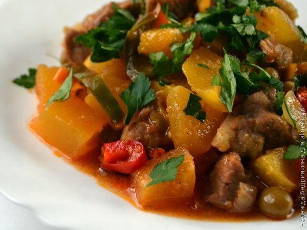 Рагу из свинины и тыквы в горшочках, рецепты с фото | Мясо ...