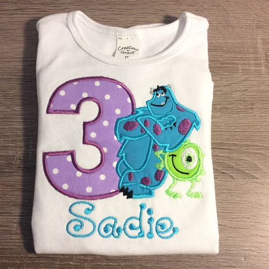 Monster+Inc+Sully+and+Mike+Birthday+Number+Shirt+or+Onesie