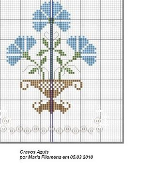 Flower. Sewing pattern graph: cross stitch, plastic canvas.