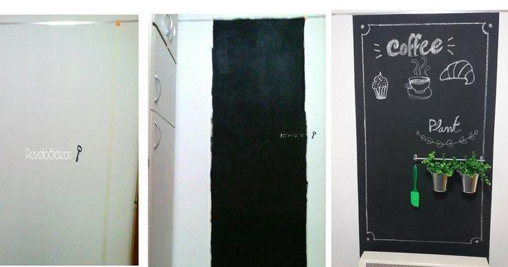 Convierte la pared de tu cocina en una pizarra