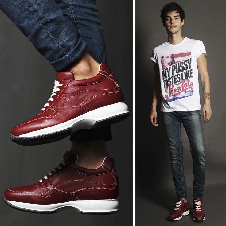 #Sneakers con rialzo interno costruite artigianalmente in Italia - Guidomaggi  http://www.guidomaggi.it/collezione-lusso/sneakers-rialzate/amsterdam-detail#.VDfvoGd_uSo