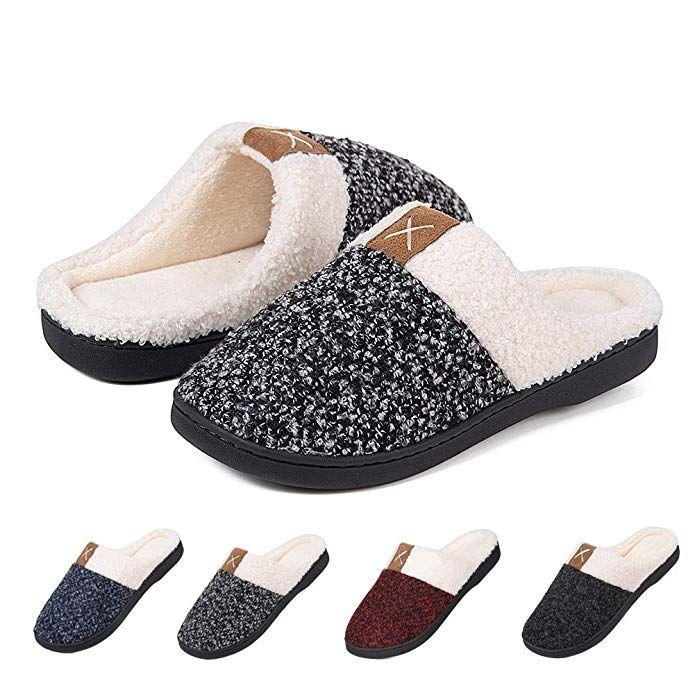 19e41244f2850 Men's House Shoes Women's House Slippers Warm Cotton Cozy Plush Fleece  Memory Foam Lining Home Shoes Outdoor Review