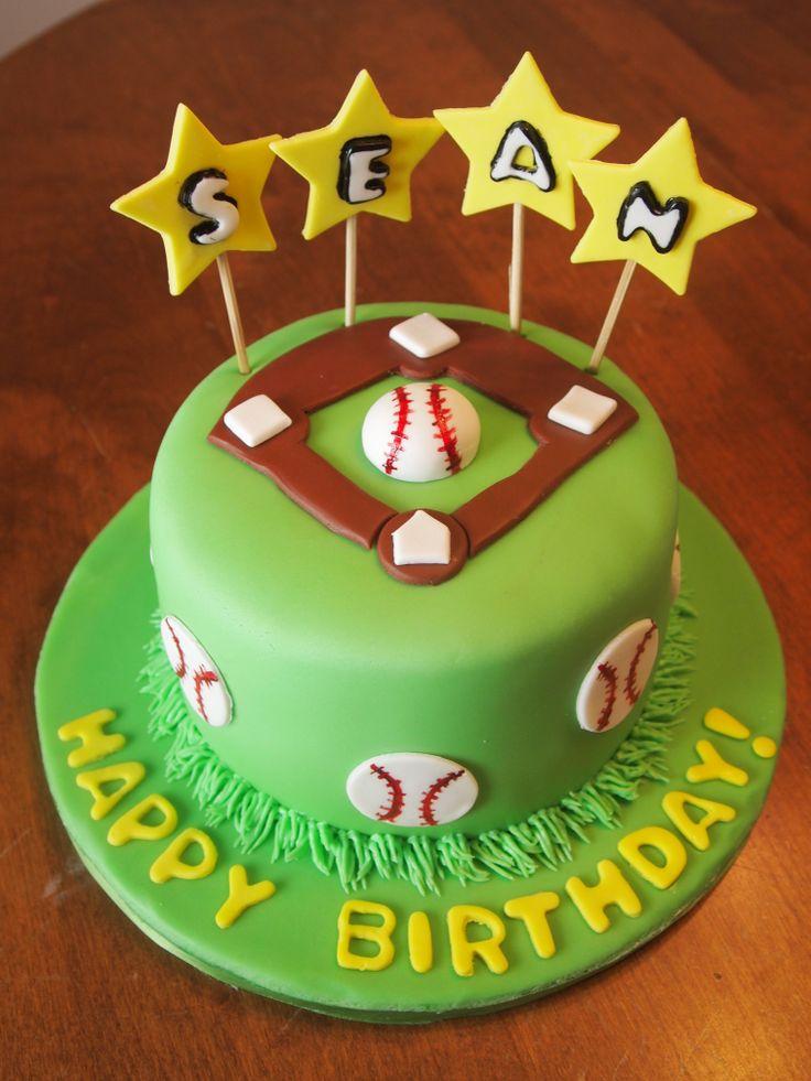 Birthday Cake  Baseball