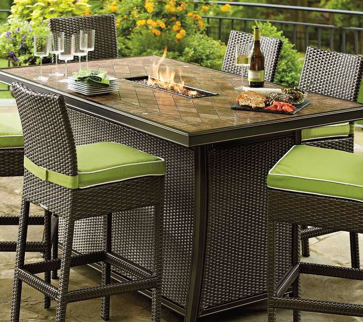 25 best ideas about Fire table on Pinterest Small fire  : a69c26db1e330e8f2b0be562fcbf41c2 outdoor furniture set outdoor dining rooms from pinterest.com size 736 x 652 jpeg 145kB