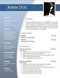 image result for cv templates word - Word Templates For Resumes