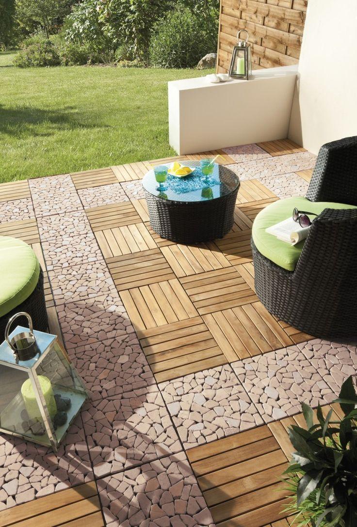 Des dalles clipsables bois pour votre terrasse