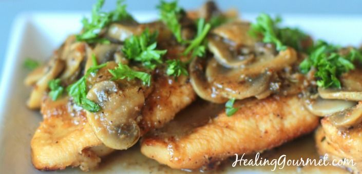 Delicious low carb Paleo Chicken Marsala