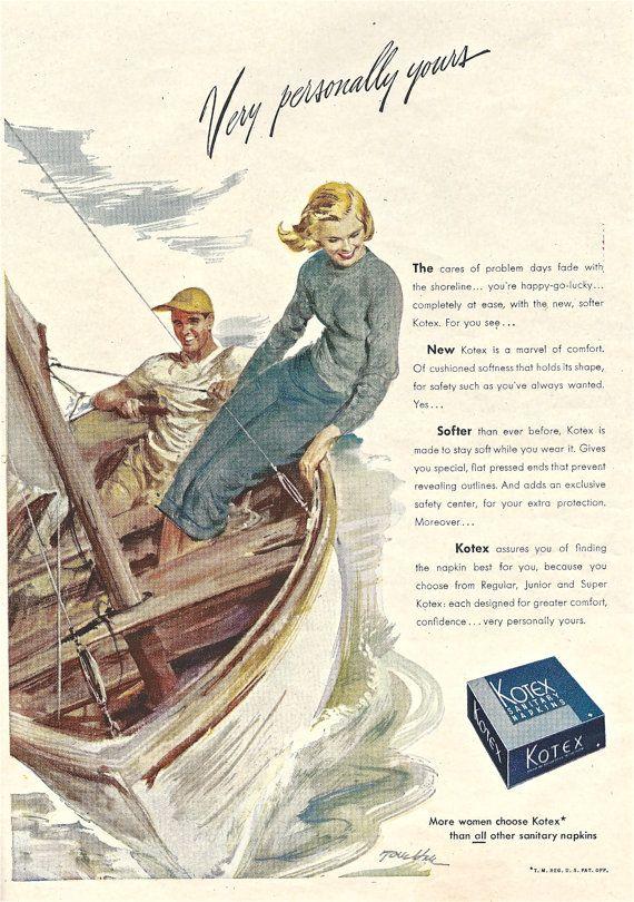 1940s Vintage KOTEX Print Advertisement Beauty Magazine Ad ...