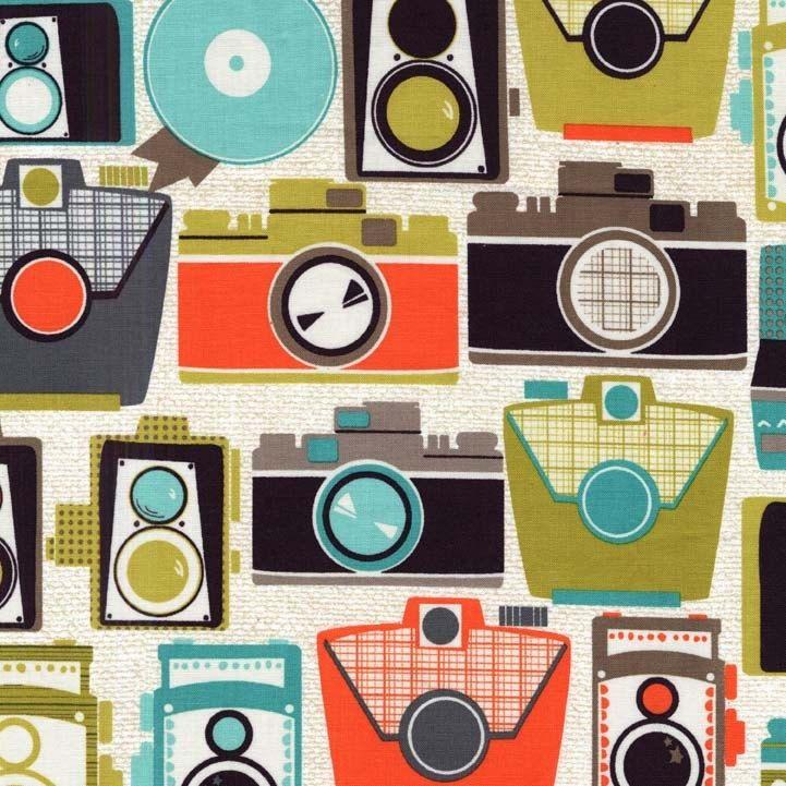 Cameras in Jewel1 yardMichael Miller by freshsqueezedfabrics, $10.00