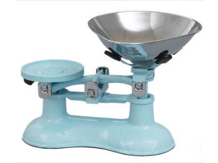 blue vintage kitchen scales | Victor kitchen scales in blue | light blue victorian kitchen scales | old fashioned kitchen scales | blue traditional kitchen scales