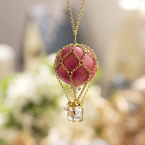 Pink Balloon Necklace  N0028 // Family Gift Birthday by queenspark, $26.00