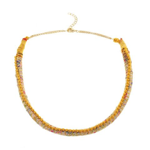 Sobhana Gold Bead Nilgiri Necklace For Three Days of School