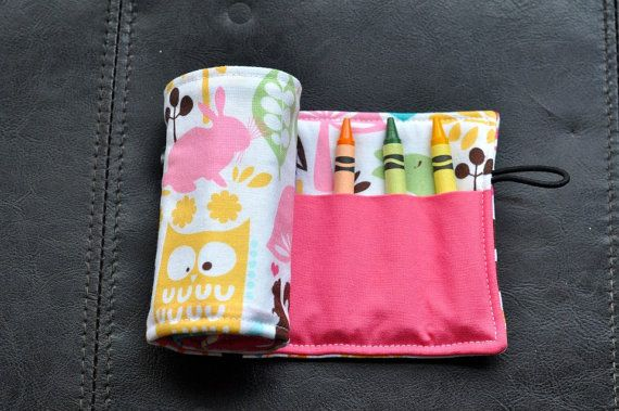 Forest Friends Watermelon Crayon Cozy/Roll by SpoonerSistersDesign, $15.00