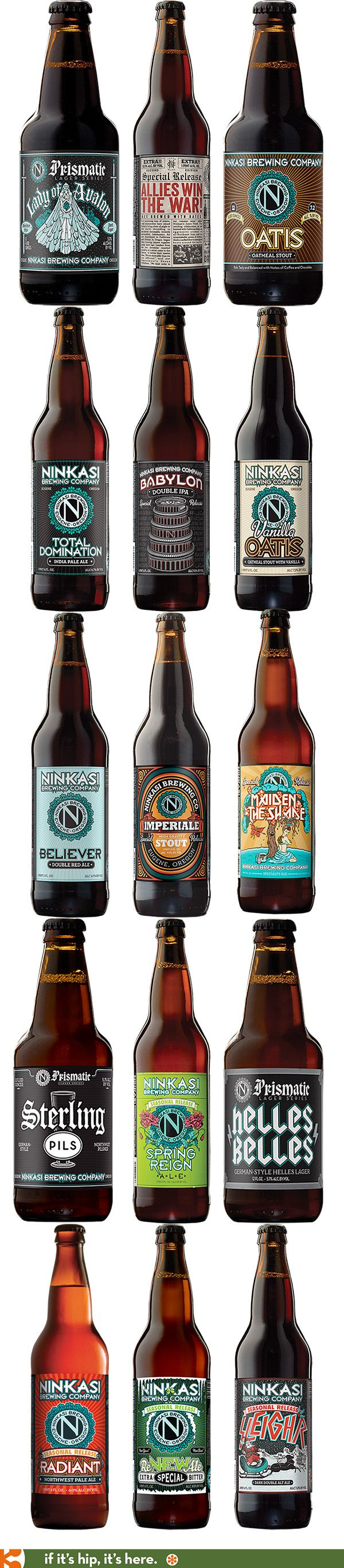 The pretty beer labels from Eugene Oregon's Ninkasi brewing Co.