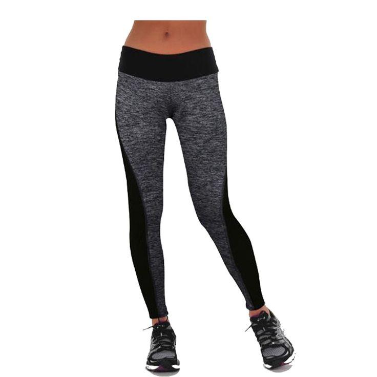 Plus Size Black/Gray Women's Fitness Leggings Workout Pants Panelled Ladies High Waist Leggins Quick-drying Wear Trousers CK1006 *** Ini pin AliExpress affiliate.  Klik tombol KUNJUNGI untuk penjelasan rinci