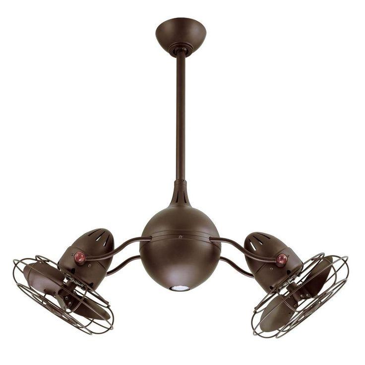 Double Head Ceiling Fan With Light