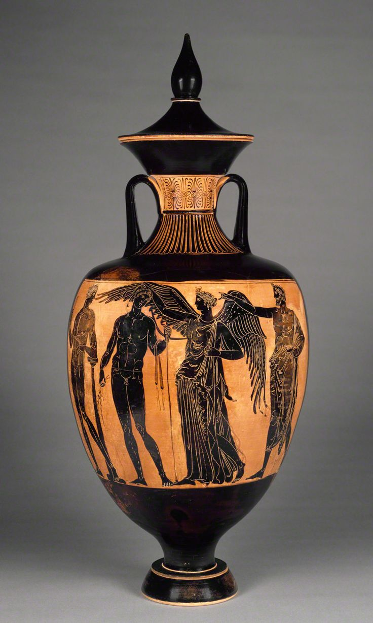 Art Olympics: Doubles Ceramics    Medalists  Nikodemos, potter  Painter of the Wedding Procession, painter    -Title  Prize Vessel from the Athenian Games