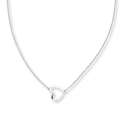 Heart Necklace Sterling Silver Kay Jewelers