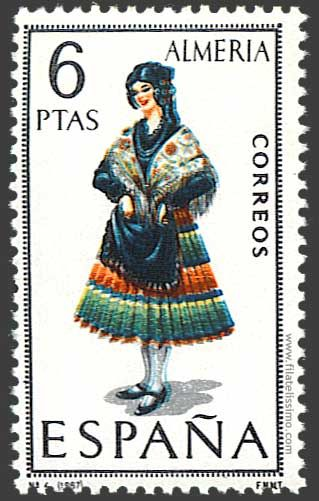 Trajes regionales españoles en sellos . ALMERIA.: Worth Collection, Sello Del, Stamps Worth, Postal Stamps, Stamps Collection, Filatelia 01, Crafts, 1967 Espana Almeria, Postage Stamps