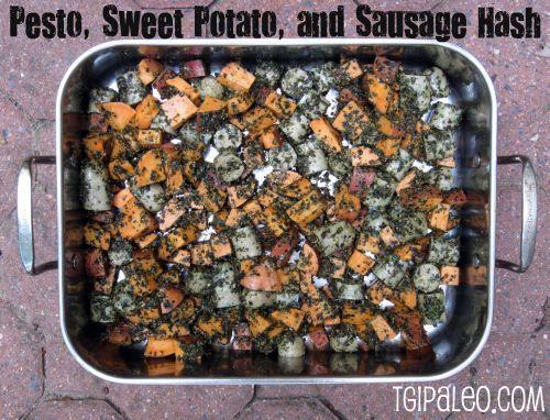 Pesto, Sweet Potato, and Sausage Hash | fastPaleo | Paleo ...