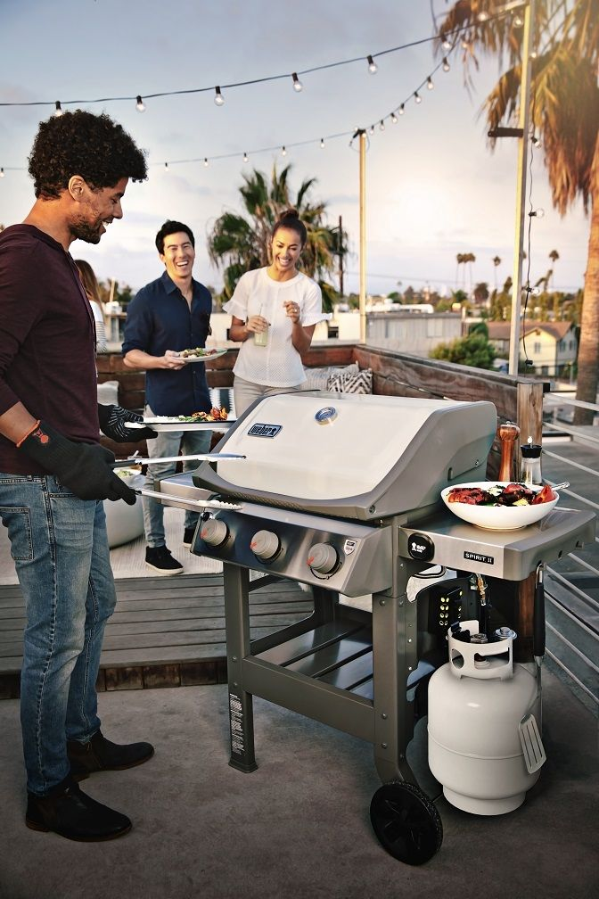 2018 Weber Spirit Ii 3 Burner Grill In Ivory Now Available At Your Local Crown Ace Hardware Crownace Com Gas Grill Grilling Weber Bbq