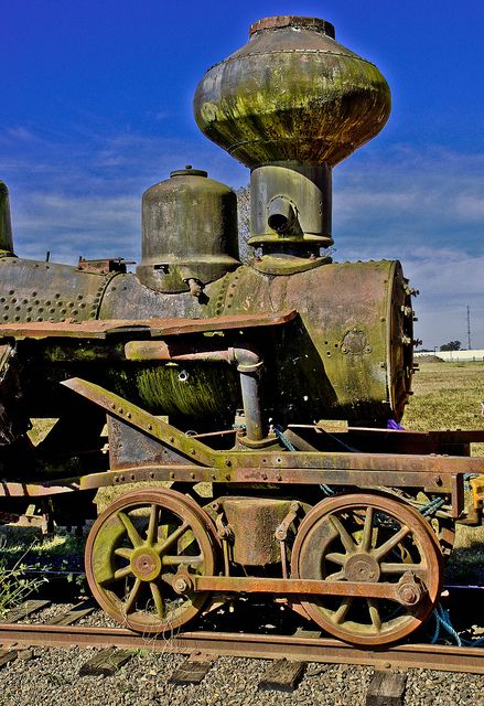 Old Choo-Choo -- DSC2827... One of the old steam engines used in the early days of Oregon's logging industry as seen adjacent to the Tillamook Air Museum just  south of Tillamook, Oregon.