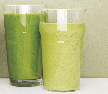 Kale Smoothie With Pineapple and Banana- I tried this earlier this morning and I was surprised at how good it was!