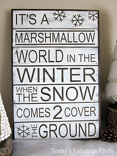 Perfect for winter mantle before Christmas