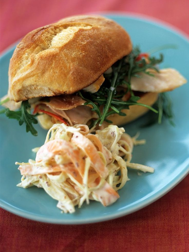 Wicked chicken with coleslaw