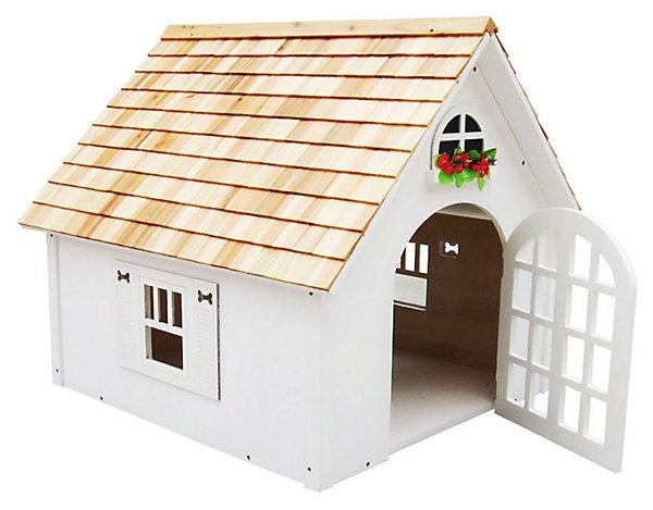 One Kings Lane - Home Sweet Home - Victorian Dog House, White