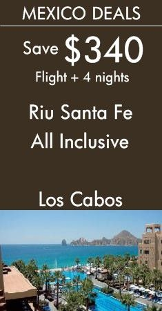 Mexico - Los Cabos: Riu Santa Fe All Inclusive | It's time to float yourself down to explore the infinity pool at Riu Santa Fe in Los Cabos! View All Mexico Deals!