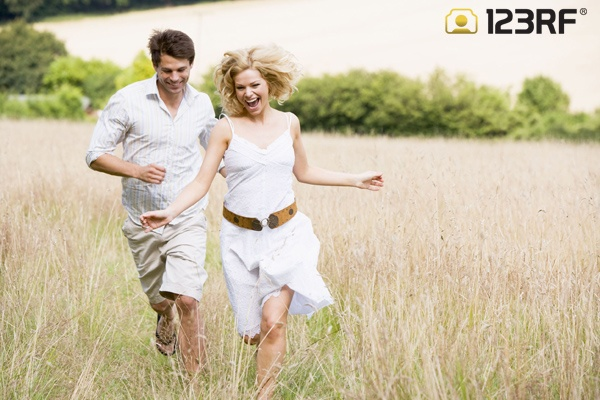 Couple running outdoors smiling | This is Love | Design ...