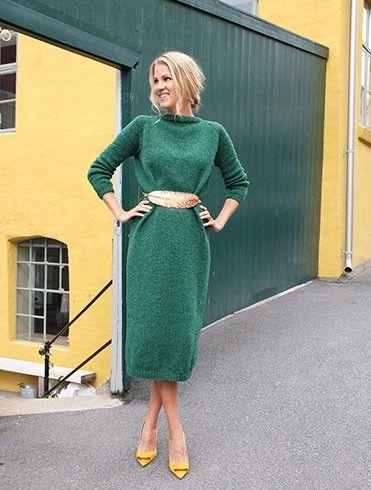 I samarbeid med fargedesigner Dagny Thurmann-Moe har vi laget en tidløs kjole som du kan strikke i valgfri lengde avhenging av personlig smak. Dagny har satt sammen unike garnpakker spesielt tilpasset forskjellig