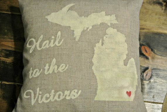 Michigan+Fight+song+Lyrics+Hail+to+the+Victors+by+PillowBarn,+$20.00