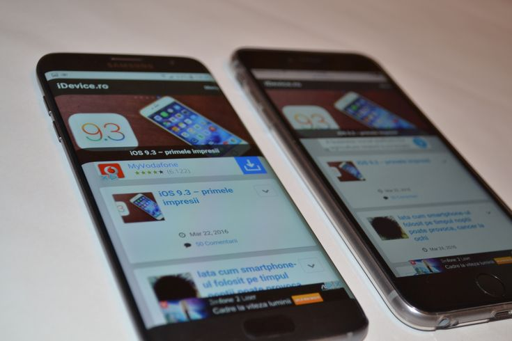 iDevice.ro – Galaxy S7 Edge vs iPhone 6S Plus – comparatia performantelor