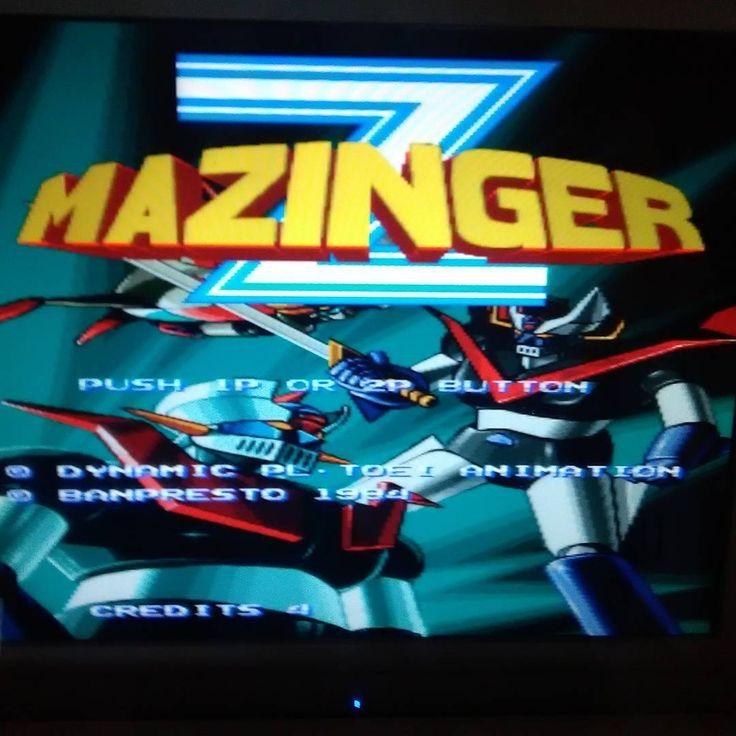 Mazinger Z for Final Burn Alpha Emulator. Great Game that teleports you directly to the 80's  ;) #retrogaming  #Arcade  #fun  #joystick  #buttons  #oldschool   #metal  #mazinger  #kojikabuto   #japan  #geek  #nerd  #robots  #lab