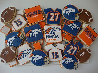 Assorted Broncos Cookies - Perfect for Game Day