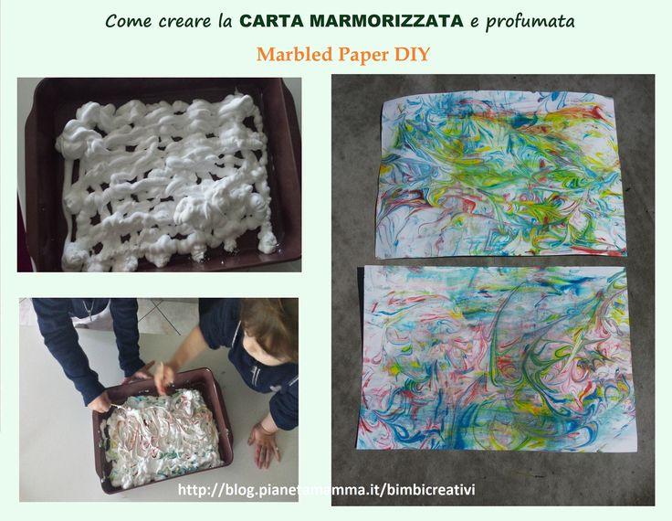 Come creare la carta marmorizzata profumata – Homemade Marbled Paper