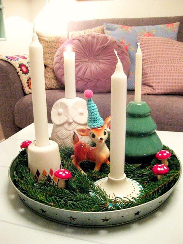 Jeg ELSKER at pynte op til jul, men det involverer sjældent klassiske løsninger eller særlig meget pynt. Men adventskransen skal være der.
