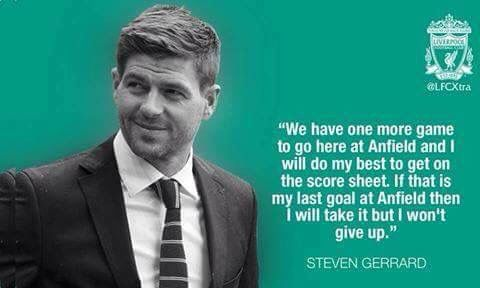Stevie G has only 3 matches left with LFC!