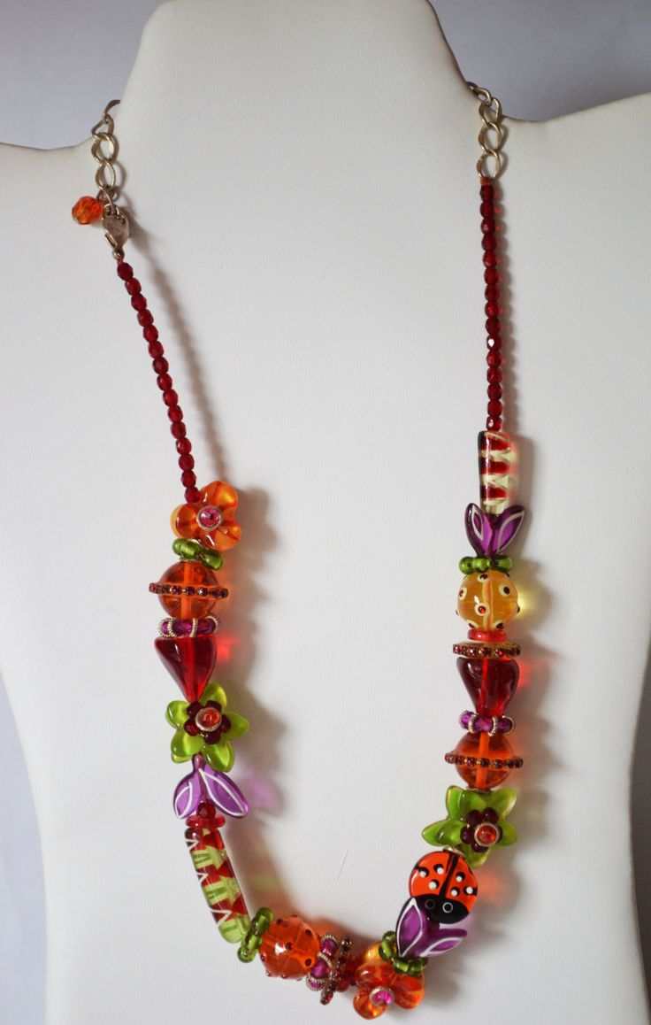 Beaded Colorful Necklace Unique Necklet for girls Casual Jewelry #NK 13 by eventsmatters on Etsy