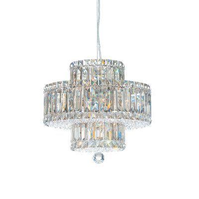 schonbek plaza 9 light drum pendant crystal color strass golden shadow - Kronleuchter Licht Mit Trommel