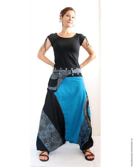 Этническая одежда ручной работы. Ярмарка Мастеров - ручная работа. Купить Аладдины из хлопка женские. Handmade. Черный, шанти, аладдин