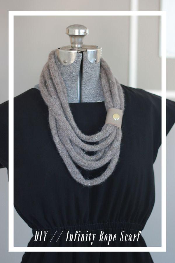 French Knitting Scarf : Infinity rope scarf by joyofallcrafts home diy