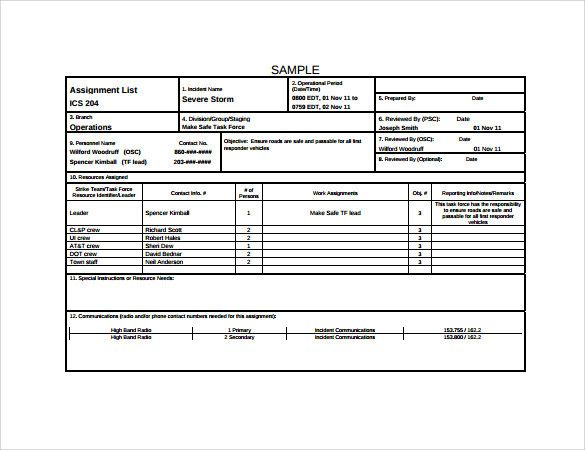 Incident Action Plan Template Awesome Sample Incident Action Plan
